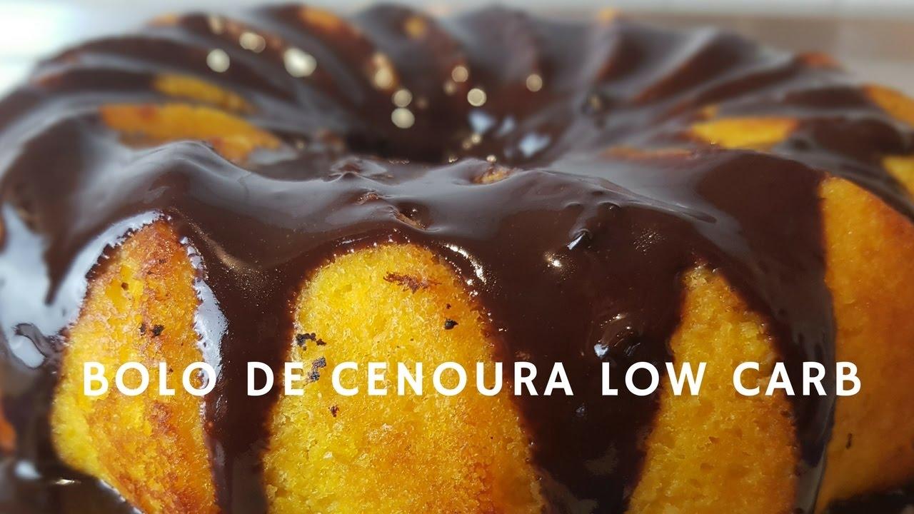 Bolo Low Carb Cenoura – Fácil de fazer e você vai se deliciar